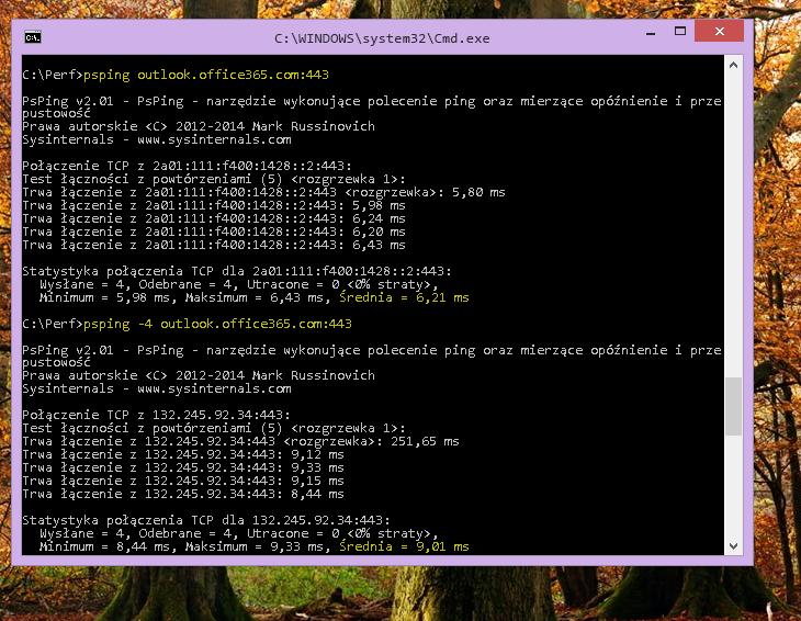 Znajdź swój adres IP przy użyciu polecenia PSPing w wierszu polecenia na komputerze klienckim.