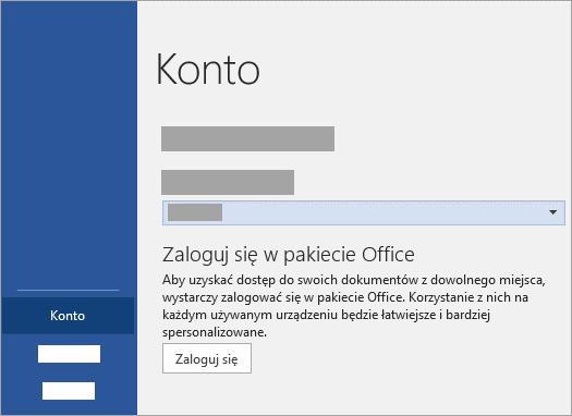 Zaloguj się przy użyciu służbowego lub szkolnego konta Microsoft lub usługi Office 365.