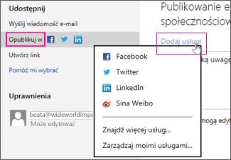 Publikowanie prezentacji w sieci społecznościowej