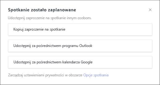 Spotkanie jest zaplanowane na ekranie