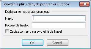 You can set a password using the Create or Open Outlook Data File dialog box.