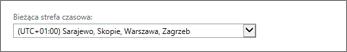Ustawienia strefy czasowej aplikacji Outlook Web App
