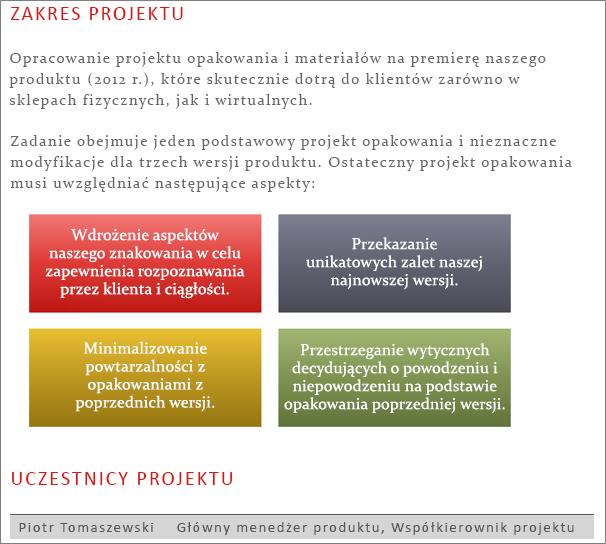 Przykładowa strona udostępnionego dokumentu programu Word