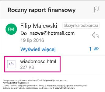 OME Viewer dla programu Outlook dla systemu iOS 1