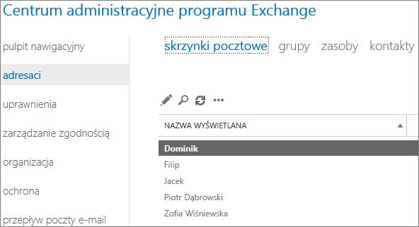 Znajdowanie skrzynek pocztowych w Centrum administracyjnym programu Exchange w celu rozwiązania problemu powodującego zwrócenie kodu błędu 5.7.134 powiadomienia o stanie dostarczenia