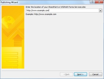 Program InfoPath 2010 — Publikowanie formularza
