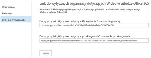 Wskazówki dotyczące wideo usługi Office 365