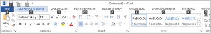 Naciśnij klawisz ALT lub F10, aby wyświetlić porady dotyczące klawiszy na wstążce