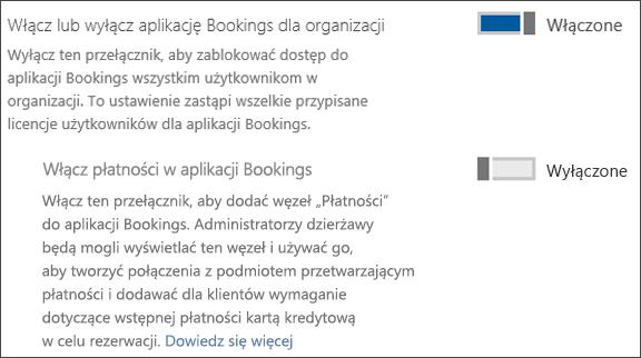 Przechwytywania ekranu: przedstawiający kontrolkę administrator rezerwacje ze strony usługi i dodatki
