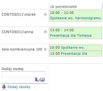 Kalendarz grupy
