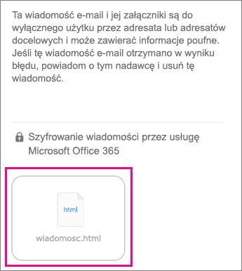 Przeglądarka OME dla aplikacji Poczta systemu iOS 1