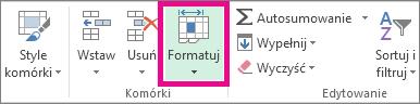 Na karcie Narzędzia główne kliknij pozycję Format