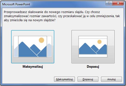 Zmaksymalizowanie może sprawić, że część zawartości wykroczy poza marginesy wydruku, jak to pokazano na ilustracji po lewej stronie.