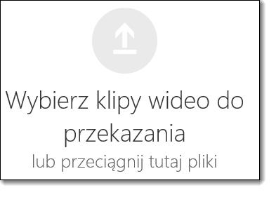 Usługa Office 365 klipy wideo do przekazania zaznacz klip wideo