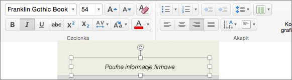 Edytowanie formatowania stopki