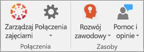 Lista ikon zawierająca ikony Zarządzaj zajęciami, Połączenia