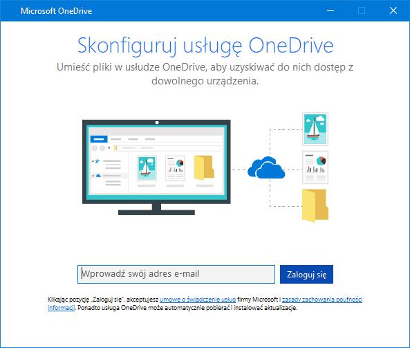 Nowy interfejs użytkownika ekranu konfiguracji usługi OneDrive