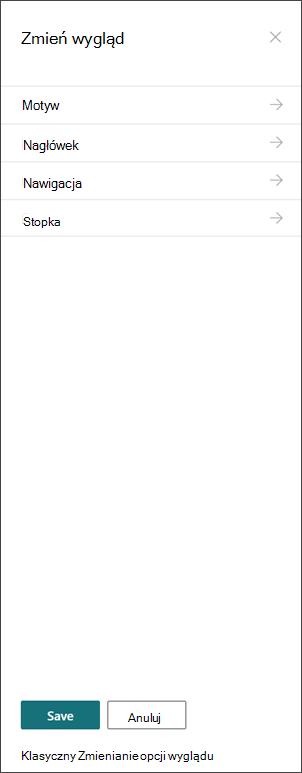 Obraz narzędzia Zmień panel wygląd