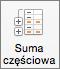 Na karcie Dane wybierz pozycję Suma częściowa