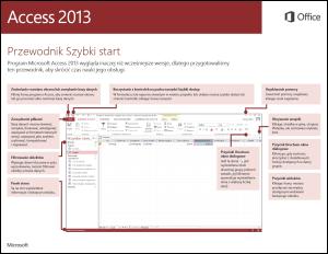 Przewodnik Szybki start dla programu Access 2013