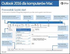 Przewodnik Szybki start dla programu Outlook 2016 dlakomputerówMac