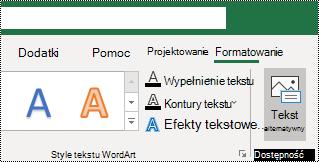Klawisz ALT tekstu na wstążce programu Excel dla systemu Windows