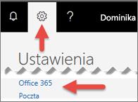 Obraz pokazujący, gdzie kliknąć w Ustawieniach.