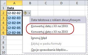 Polecenia umożliwiające konwertowanie dat