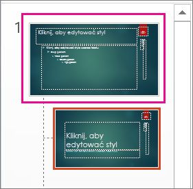 Miniatura wzorca slajdów w widoku wzorca slajdów