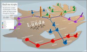 Obraz przedstawiający niestandardową mapę