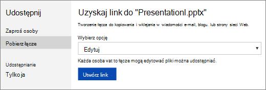 Wprowadzenie łącza do prezentacji