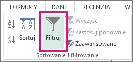 Przycisk Filtruj