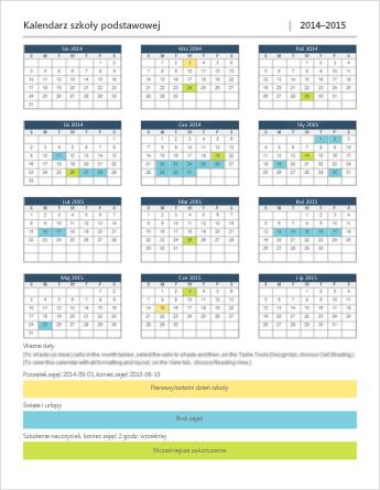 Szablon kalendarza