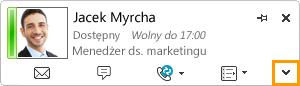 Rozwijanie wizytówki programu Lync