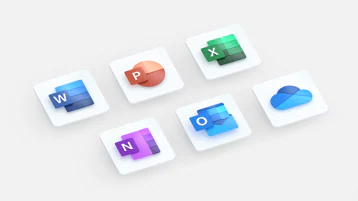 Ilustracja przedstawiająca ikony pakietu Office