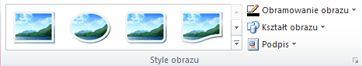 Grupa Style obrazu na karcie Narzędzia obrazów w programie Publisher 2010