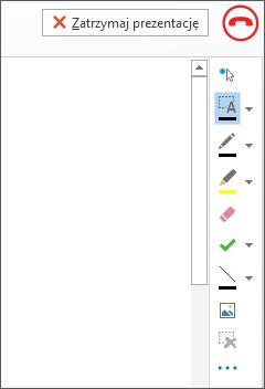 Zrzut ekranu: tablica wyświetlana podczas spotkania