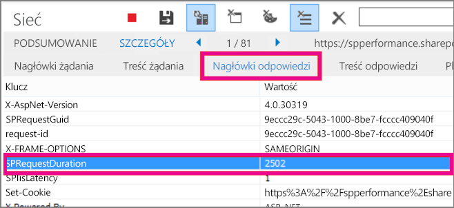 Screenshot showing a request duration of 2502 ms