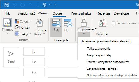 Szyfrowanie przycisk opcji