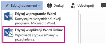 Edytowanie w aplikacji Word Online