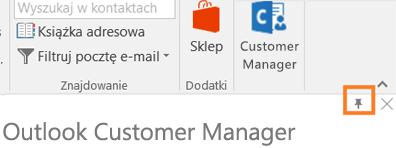 Numer PIN ikona n prawym górnym rogu aplikacji