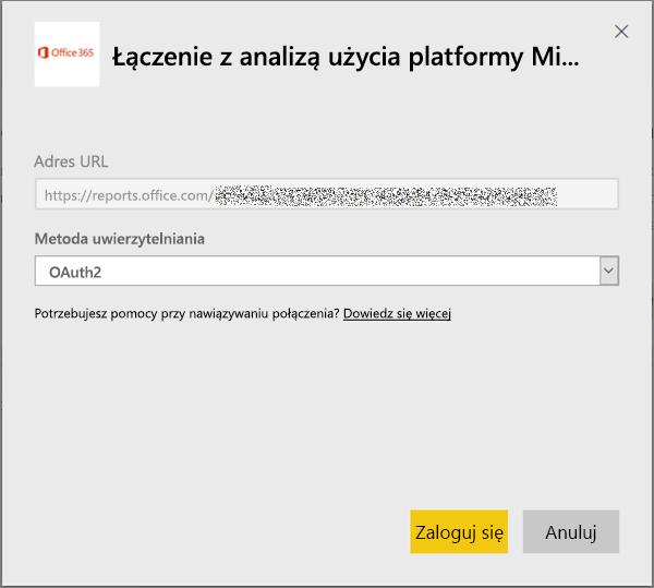 Wybierz metodę uwierzytelniania oAuth2