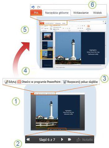 Rzut oka na aplikację PowerPoint Web App