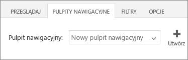 Nowy pulpit nawigacyjny na liście pulpitów nawigacyjnych