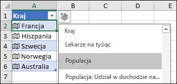 Dodawanie kolumny w celu dodania rekordu Population (Populacja)
