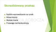 """Przykładowy tekstowy znak wodny """"WERSJA ROBOCZA"""", używany jako tło slajdu programu PowerPoint"""