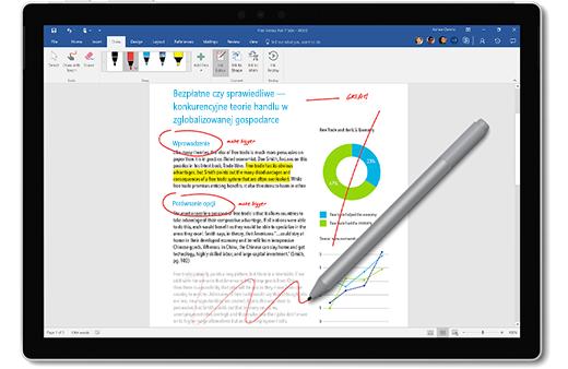 Obraz Pióra Surface oznaczającego dokument.