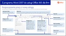 Miniatura przewodnika dotyczącego przechodzenia z programu Word 2007 do usługi Office 365
