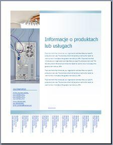 Szablon ulotki (projekt stonowany, niebieski) w witrynie Office Online