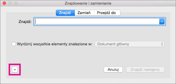 Pokazuje, jak otworzyć menu podręczne Format